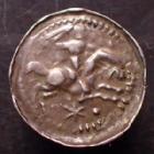 Photo numismatique  Monnaies Monnaies/médailles de Lorraine Thiebaut de Lorraine Denier, denar, denario, denarius Thiebault de Lorraine Sire de Rumugny, denier 1281-1303, 0,52 grm, Flon.P.305 Var. P.TTB
