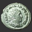 Photo numismatique  Monnaies Empire Romain PHILIPPE I, PHILIPPUS I, PHILIPPUS I ARABS, PHILIPPO I Antoninien, antoninianus, antoniniane PHILIPPUS Arabs, PHILIPPE I l'Arabe, antoninien Rome en 249, FIDES EXERCITUS 4 enseignes, 22 mm, 3,37 grms, RIC.62 SPL/SUP  avec brillant d'origine !