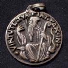 Photo numismatique  Monnaies Médailles Médaille religieuse Médaille de Saint Benoit Médaille religieuse de Saint Benoit gravé par Fernand Py vers 1940, métal blanc, TTB à SUP
