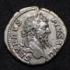Photo numismatique  Monnaies Empire Romain SEPTIME SEVERE, SEPTIMUS SEVERUS, SEPTIMO SEVERO Denier, denar, denario, denarius SEVERUS, SEPTIMIUS SEVERUS, SEPTIME SEVERE, denier Rome en 206, Genie debout à gauche, 3,03 grms, RIC.201 TTB+