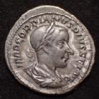 Photo numismatique  Monnaies Empire Romain GORDIEN III, GORDIAN III, GORDIANUS III, GORDIANO III Denier, denar, denario, denarius GORDIEN III d'Afrique, GORDIANUS III Africanus, denier Rome en 240, SECURITAS PUBLICA, 19-20mm, 3,39 grms, RIC.130 (S) SUPERBE Peu commun!