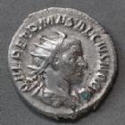 Photo numismatique  Monnaies Empire Romain HERENNIUS ETRUSCUS, HERENNIO ETRUSCUS Antoninien, antoninianus, antoniniane HERENNIUS ETRSCUS, Antoninien Rome en 251, PRINCIPI IVVENTVTIS, 21-23 mm, 4,08 grms, RIC.146 TTB R!