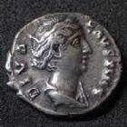 Photo numismatique  Monnaies Empire Romain FAUSTINE MERE, FAUSTINA MAIOR, DIVA FAUSTINA Denier, denar, denario, denarius FAUSTINA Maior, FAUSTINE Mère, denier posthume Rome en 148-161, AVGVSTA, 18mm, 3,13 grms, RIC.368 TTB+