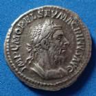 Photo numismatique  Monnaies Empire Romain MACRIN, MACRINUS, MACRINO Denier, denar, denario, denarius MACRINUS, MACRIN, denier Rome en 217, FIDES MILITUM, 20mm, 3,82 grms, RIC.67 TTB+