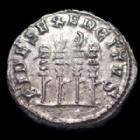 Photo numismatique  Monnaies Empire Romain PHILIPPE I, PHILIPPUS I, PHILIPPUS I ARABS, PHILIPPO I Antoninien, antoninianus, antoniniane PHILIPPE I l'arabe, PHILIPPUS I Arabs, antoninien Rome en 247-249, FIDES EXERCITUS 4 enseignes, 22mm, 3,37 grms, RIC.62 TTB/TTB+