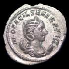 Photo numismatique  Monnaies Empire Romain OTACILE, OTACILIA, OTACILIA SEVERA Antoninien, antoninianus, antoniniane OTACILIA, OTACILE, antoninian Rome en 247, CONCORDIA AUGG, 21x24mm, 3,60 grms, RIC.125c SUP/TTB