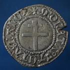 Photo numismatique  Monnaies Monnaies/médailles de Lorraine René II Blanc RENE II, blanc à partir de 1496, 0,94 grm, Flon 64 var P.571, bon TTB Rare!