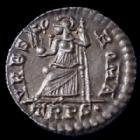 Photo numismatique  Monnaies Empire Romain VALENS SILIQUE, SILIQUA VALENS, siliqua, silique Trèves en 364-378, URBS ROMA TRPS., 17mm, 1,79 grms, RIC 27b SUPERBE+