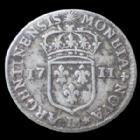 Photo numismatique  Monnaies Monnaies Royales Louis XIV 11 sols de Strasbourg LOUIS XIV, 11 sols de Strasbourg 1711 BB, Gad.135, 2,89 grms P.TTB R!