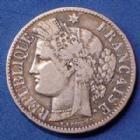 Photo numismatique  Monnaies Monnaies Françaises Troisième République 2 Francs 2 Francs Cérès 1881 A Paris, Gad 530a TB+