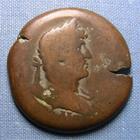 Photo numismatique  Monnaies Colonies Romaines 2ème Siècle HADRIEN Drachme HADRIEN, Alexandrie drachme, année 17 (LIZ) Dattari 1848 TB