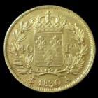 Photo numismatique  Monnaies Monnaies Française en or Charles X 40 Francs or CHARLES X, 40 Francs or 1830 A, Paris, 12,85 grms, Gad.1105 rayures d'ajustage, TTB