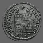 Photo numismatique  Monnaies Empire Romain Constantinus II, Constantin II, Constantine II Follis ou Nummus CONSTANTINUS II, CONSTANTIN II, follis ou nummus Arles (Arelate) en 327, PROVIDENTIAE CAESS ARLT, 19mm, 3,07 grms, RIC 311 SPL