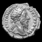 Photo numismatique  Monnaies Empire Romain Marcus Aurelius, Marc Aurèle Denier, denar, denario, denarius MARCUS AURELIUS, MARC AURELE, denier Rome en 174-175, IMP VII COS III Felicitas, 18mm, 3,26 grms, RIC 314 TTB