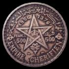 Photo numismatique  Monnaies Anciennes colonies Françaises Maroc, Morocco 500 Francs Morocco, Maroc, Mohamed V, 500 francs 1956, Lec.293 TTB