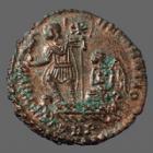 Photo numismatique  Monnaies Empire Romain Constantius II, Constance II Centenionalis CONSTANTIUS II, CONSTANCE II, centenionalis Trèves (Treveri) en 348-350, FEL TEMP REPARATIO, 21-22mm, 5,34 grms, RIC 214 TTB à SUP