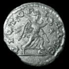 Photo numismatique  Monnaies Empire Romain Elagabalus, Elagabal Denarius, Denier, Denar, Denario ELAGABALUS, ELAGABAL, denarius Antioch en 222, Victoria Aug, étoile dans le champ, 18 mm, 2,43 g, RIC 301 TTB+