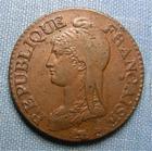 Photo numismatique  Monnaies Monnaies de la Révolution Directoire 5 Centimes DIRECTOIRE, Cinq centimes An 8 BB, Gadoury 126 a  TTB+