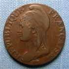 Photo numismatique  Monnaies Monnaies de la Révolution Directoire 5 Centimes DIRECTOIRE, 5 Centimes AN 4 A, Gadoury 124 TB+