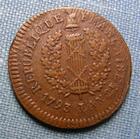 Photo numismatique  Monnaies Monnaies de sièges Mayence République Française 1 Sol SIEGE DE MAYENCE, 1793, 1 Sol, Gadoury 65 TTB+