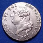 Photo numismatique  Monnaies Monnaies de la Révolution Constitution 15 Sols 15 Sols 1791 AA Metz, avec une double frappe uniquement sur NCAIS de Français,  5,10 g, G.35 TTB à SUP