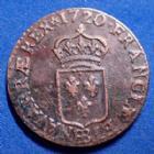 Photo numismatique  Monnaies Monnaies Royales Louis XV Liard au buste enfantin LOUIS XV, liard au buste enfantin 1720 BB Strasbourg, 3,36 grms, G.270 TTB+