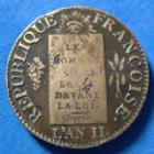 Photo numismatique  Monnaies Monnaies de la Révolution Convention Sol à la balance Convention, sol à la balance non daté AN II AA Metz, 12,59 grms, Gad.21 TB+