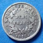 Photo numismatique  Monnaies Monnaies Françaises 1er Empire Demi franc NAPOLEON Ie, demi franc 1812 A Paris, Gad.399 TTB
