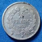 Photo numismatique  Monnaies Monnaies Françaises Louis Philippe 1/4 de Franc LOUIS PHILIPPE, 1/4 de franc 1839 W Lille, Gad.355 TTB+