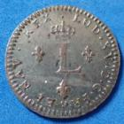 Photo numismatique  Monnaies Monnaies Royales Louis XV Double sol de billon LOUIS XV, Double sol de billon 1762 BB Strasbourg, 2,11 grms, Gad.281 TTB à SUP