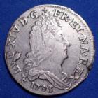 Photo numismatique  Monnaies Monnaies Royales Louis XIV 10 Sols aux 4 couronnes LOUIS XIV, 10 sols aux 4 couronnes 1703 BB Strasbourg, 3,32 grms, Gad.132 traces de néttoyage sinon TB à TTB