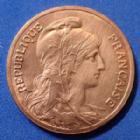 Photo numismatique  Monnaies Monnaies Françaises Troisième République 5 centimes Dupuis 5 Centimes Daniel Dupuis 1898, Gad.165 traces de néttoyage sinon SPL