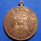 Photo numismatique  Monnaies Monnaies/medailles d'Alsace Colmar Médaille avec belière COLMAR, médaille avec bélière, laiton 28,2mm, Historich Gewerblicher Umzug, Ostermontag 1898, TTB