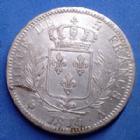 Photo numismatique  Monnaies Monnaies Françaises Louis XVIII 5 Francs LOUIS XVIII, 5 Francs au buste habillé 1814 A, Paris, 24,95 grms, Gad.591 paillage au revers sinon TTB à SUP