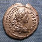 Photo numismatique  Monnaies Empire Romain CARACALLA Denier, denar, denario, denarius CARACALLA, Denier frappé à Rome en 204, IN CARTH, RIC 130 a TTB