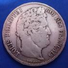 Photo numismatique  Monnaies Monnaies Françaises Louis Philippe 5 Francs LOUIS PHILIPPE Ie, 5 francs 1840 B Rouen, Gad.678 TB/TB+