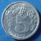 Photo numismatique  Monnaies Monnaies de nécéssité Epernay 5 centimes, nécessité EPERNAY, 5 centimes 1922, Union des commerçants  détaillants d'Epernay, Alu. El.10.1 SUP