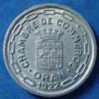 Photo numismatique  Monnaies Anciennes colonies Françaises Algerie, Algeria 25 Centimes Oran ORAN, Algérie, Algéria, 25 centimes 1922, chambre de commerce, aluminium, Lec.318 revers corrodé sinon SUP/TTB