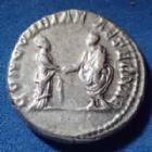 Photo numismatique  Monnaies Empire Romain Plautilla, Plautille Denarius, Denier, Denar, Denario PLAUTILLA, PLAUTILLE, denier frappé à Rome en 202-203, Concordia Aeternae, 18mm, 3,39 grms, RIC 361 SUP+/TTB+