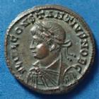 Photo numismatique  Monnaies Empire Romain Constantius II, Constance II Follis ou Nummus CONSTANTIUS II Caesar, CONSTACE II César, follis ou nummus Alexandrie en 329-330, Providentiae caess, porte de camp, 18mm, 3,22g, RIC 52 SUPERBE+