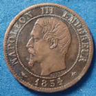 Photo numismatique  Monnaies Monnaies Françaises Second Empire 1 Centime NAPOLEON III, 1 centime tête nue 1854 BB Strasbourg, Gad.86 TTB à SUP