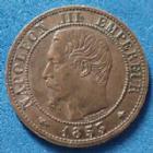 Photo numismatique  Monnaies Monnaies Françaises Second Empire 1 Centime NAPOLEON III, 1 centime 1853 BB Strasbourg, Gad.86 TTB à SUP