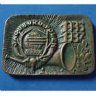 Photo numismatique  Monnaies Monnaies étrangères Pologne, Polland, Polski, Polska Médaille bronze POLOGNE, POLEN, médaille plaquette en bronze de 73,8x48,2mm, Chasse, JAGD BURO POLEN 1986 - 1987, 97,24 grms, SUP