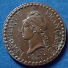 Photo numismatique  Monnaies Monnaies Françaises Deuxième République 1 Centime 1 Cenime Dupré 1848 A, Paris, Gad.84 P.SUP