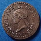 Photo numismatique  Monnaies Monnaies de la Révolution Directoire Un centime 1 Centime Dupré AN 6 A, Paris, Gad.76 petites rayures au revers sinon TTB