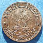 Photo numismatique  Monnaies Monnaies Françaises Second Empire 2 Centimes NAPOLEON III, 2 centimes 1861 petit BB Strasbourg, Gad.104 TTB/TTB+