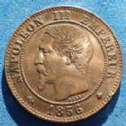 Photo numismatique  Monnaies Monnaies Françaises Second Empire 2 Centimes NAPOLEON III, 2 centimes 1856 BB Strasbourg, Gad.103 petit coup sur tranche sinon TTB+