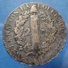 Photo numismatique  Monnaies Monnaies de la Révolution Constitution 2 Sols François Constitution, Louis XVI, 2 sols François 1792 A, AN 4, Gad.25 TB à TTB