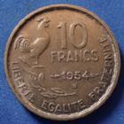 Photo numismatique  Monnaies Monnaies Françaises 4ème république 10 Francs Guiraud 10 Francs Guiraud 1954 B, Gad.812 TTB+