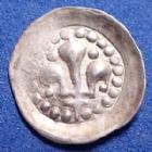 Photo numismatique  Monnaies Monnaies/medailles d'Alsace Strasbourg Hälbling STRASBOURG, STRASSBURG, Municipalité 15/16e sziècle,Halbling, 1/2 pfennig au Lis, 11mm, 0,18 grm, EL.319 Variante P.SUPERBE Rare!